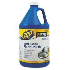 Zep Commercial Wet Look Floor Polish 1 Gallon Covers 2000 Sq Ft Zuwlff128