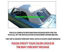 CHEVROLET CORVETTE CONVERTIBLE TOP DO IT YOURSELF PACKAGE 1963-1967