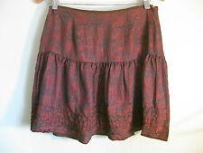 Alannah Hill Size 10 Wine Coloured Silk Summer Night Mini Skirt