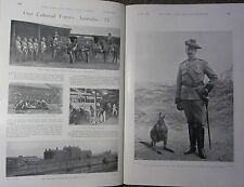 1898 BOER WAR PRINT AUSTRALIA COLONIAL FORCE ARMY SERVICE CORPS VICTORIA BARRACK