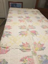 """Twin Quilt Bedspread Yellow /Pink Patchwork 82""""x64"""""""