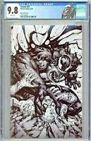 Venom #25 CGC 9.8 Kael Ngu Sketch Virgin Edition Variant Cover BTC Slab City