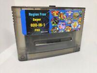 Transparent Black Snes EverDrive For Super Nintendo SNES + SD 8GB Free Shipping