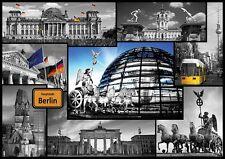 Puzzle Pappe Trefl 500 Teile Impressionen Collage Berlin Deutschland - NEU 37171