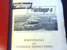 Bell JetRanger 206A and JetRanger II Model 206B Service & Overhaul Manual