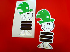SKODA MASCOT Car Bumper Stickers Decals 2 off 95mm