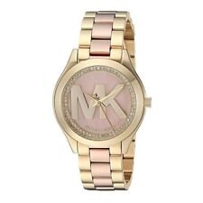 Michael Kors  MK3650 Mini Slim Runway Two Tone With Mk Logo Dial 33 mm