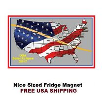 397 - Solar Eclipse 2017 USA Refrigerator Fridge Magnet