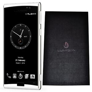 New Lumigon T3 128GB Stainless Steel White Dual-SIM Factory Unlocked 4G/LTE GSM