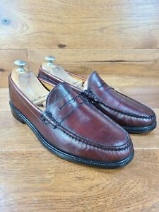ALDEN Cape Cod Collection Burgundy Leather Classic Penny Loafer Size 8.5D USA