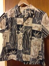Vintage Tori Richard Women's Hawaiian Shirt Guam Bank Pacific Size Large