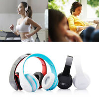 Foldable Wireless Bluetooth Stereo Headset Headphones Mic for iPhone Samsung US