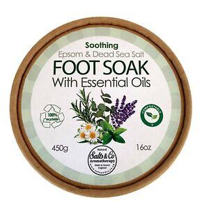 Foot Soak Epsom Dead Sea Salt Chamomile Lavender Rosemary Peppermint Eucalyptus