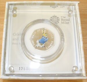 Royal Mint 2017 Peter Rabbit 50p - Silver Proof