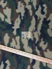 "CAMO PRINT POLAR FLEECE FABRIC - Army - 60"" WIDTH SOLD BY THE YARD - 214"