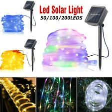 22M 200LED Solar Powered Rope Tube String Fairy Lights Outdoor Garden Xmas Lamp