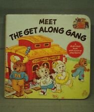 Meet The Get Along Gang vintage children's board book Play Pals stand up figures