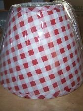HOME COLLECTIONS PLAID LAMP SHADE - WITH FINIAL FITTING