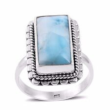 Artisan Crafted Larimar Ring in Sterling Silver Size 6 TGW 8 cts NWT