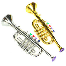 AU Mini Golden&Silver Horn Trumpet Musical Instrument Toy Educational Kid