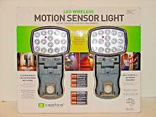 LED WIRELESS MOTION SENSOR LIGHT 2 PACK 16 LED ULTRA BRIGHT MULTI-DIRECTIONAL