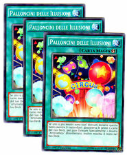 Set 3X PALLONCINI DELLE ILLUSIONI SECE-IT051 Comune Italia YUGIOH