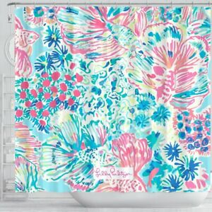 Gypsea Lilly Pulitzer Pattern Shower Curtain