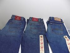 3 NEW PAIRS of LUCKY BRAND Ladies Jeans DUNGAREES !! Sizes 26 27 28 WHOLESALE !!