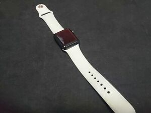 Apple Watch (GPS) Series 3 38mm Space Gray Case - White Sport Band