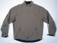 Nike Golf Storm Fit Light Brown Black Swoosh Full Zip Mens Windbreaker Jacket L