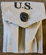 WWII US ARMY INFANTRY M1924 .45 PISTOL MAGAZINE AMMO BELT CARRY POUCH-OD#3