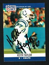 Keith Taylor #525 signed autograph auto 1990 Pro Set Football Trading Card