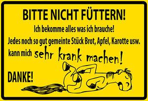 """Schild Spruch /""""Pferdestall/"""" 46 x 10 cm Blechschild weiß"""
