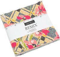 "Remix Moda Charm Pack 42 100% Cotton 5"" Precut Fabric Quilt Squares"