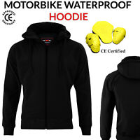 Motorbike Motorcycle Armoured Jacket Soft Shell Breathable Waterproof Hoodie CE