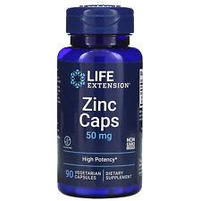 Zinc Caps, High Potency, 50 mg, 90 Vegetarian Capsules