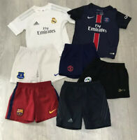 Boys kids bundle job lot football shirts shorts size 3-5 years approx