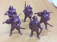Set of 5 Turkish Infantry 19th century Plastic Toy Soldier 1/32 TEHNOLOG 54 mm
