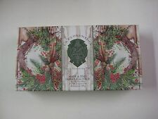 La Florentina Christmas Pine 3 X 5.3 Oz Box Of Hand Soaps Florence Italy