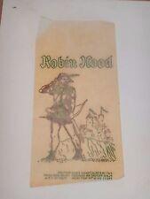 VINTAGE, ORIGINAL 1960s ROBIN HOOD  IRON-ON TRANSFER