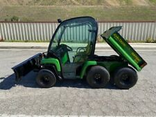 JOHN-DEERE GATOR 6X4 FULLY ENCLOSED, DUMP BED AND SNOW PLOW LOW HOURS,EX CA CITY