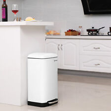 Gebrauchte Mülleimer Küche 30 L Edelstahl mit Pedal weiß L185095B+LTB01W