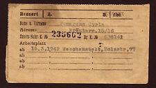 JUDAICA Getto Litzmannstadt 1942 Receipt for additional Ration Card