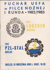 Programma / Programme Stal Mielec v KSC Lokeren 15-09-1982 UEFA Cup 1st