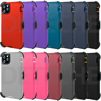 Shockproof Defender Case for iPhone 11 11 Pro Max + Belt Clip Holster Hard Cover