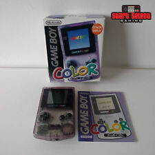Nintendo Gameboy Transparent Purple GBC As New CIB Boxed Console | FREE POST