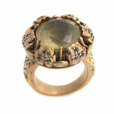 MUZE BY GYPSY CITRINE AND WHITE TOPAZ BRONZE RING SIZE 9 HSN $89.90 SOLD OUT