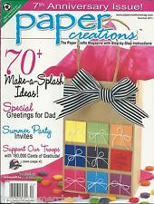 Paper Creations magazine Fathers Day Summer party invites Happy birthday cards