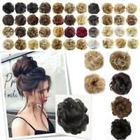 Highlight Natural Curly Messy Bun Hair Piece Scrunchie Thicks Hair Extension UK