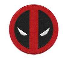 "DEADPOOL IRON ON PATCH 3.75"" Red Black Comic Super Hero Embroidered Applique"